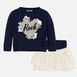 Komplet Mayoral 4951-72 bluza ze spódnicą tiulową dla dziewczynki
