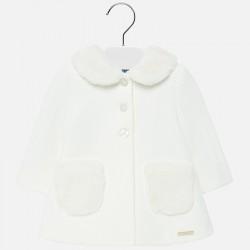 Płaszcz Mayoral 2426-91 z dzianiny kremowy