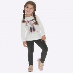 Spodnie Legginsy  Mayoral 10683-89 typu siatka dla dziewczynki