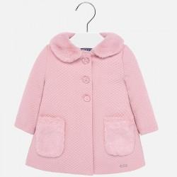 Płaszcz Mayoral 2426-93 z dzianiny różowy