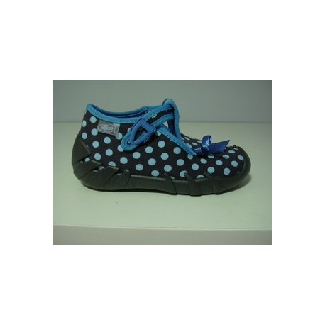 Kapcie buty dziecięce Befado 110 P 219 Niebieska kokardka r 20, 21, 22, 23, 24