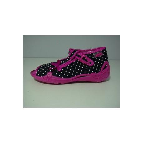 Kapcie buty dziecięce Befado 213 P072 Różowa kokardka r 19, 21, 22, 24, 25, 26