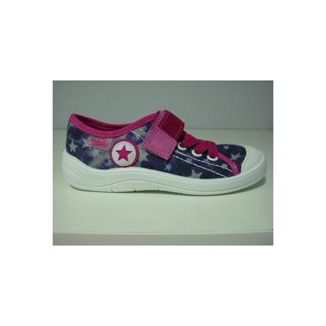 Kapcie buty dziecięce Befado 251 x 039Gwiazdy- sznurowane r 27, 28, 29, 30