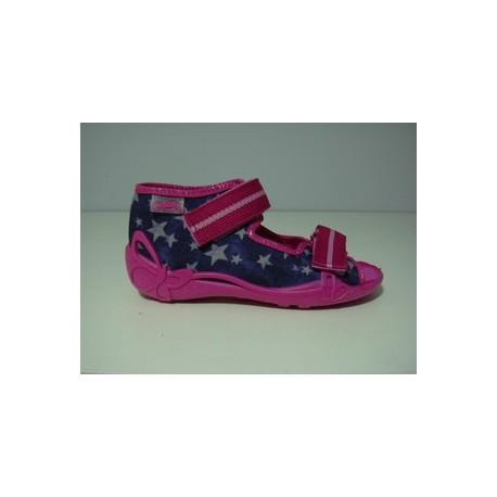 Kapcie buty dziecięce Befado Gwiazdy- rzep r 19, 20, 21, 22, 23, 24, 25