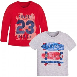 Bluzka T-shirt 2szt Mayoral 3080 kolor 041