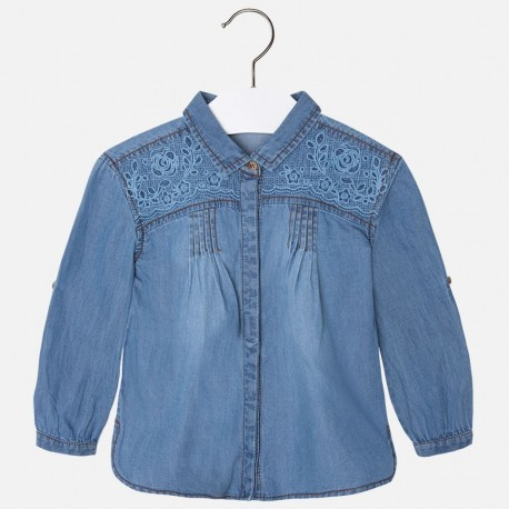 Mayoral bluzka luźna jeansowa 4152 49
