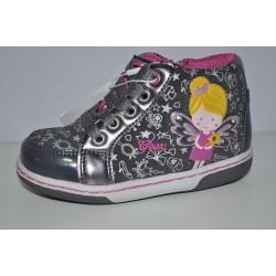 Buty dziewczęce świecące trzewiki Geox suwak z boku oddychające B6434A r22-27