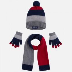 Mayoral komplet czapka szalik rękawiczki 10044 35