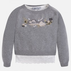 Mayoral komplet sweter z koszulka 4320 -34