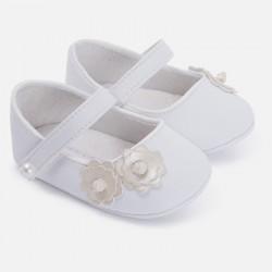 Mayoral buciki niemowlęce 9501 90 kremowe